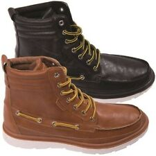 Rock & Religion Mens Casual Combat Footwear Ankle Lace Up Leather High Top Boots