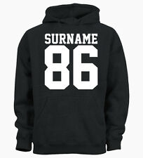 Personalised Surname Age Year Customised Unisex Hoodie Hoody