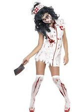 Adult Sexy Zombie Nurse Ladies Halloween Horror Fancy Dress Costume Party Outfit