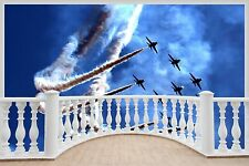 Huge 3D Balcony Jet Fighter Planes Wall Stickers Mural Art Decal 1125
