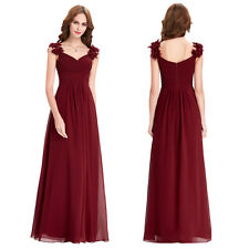 New Long Chiffon Evening Formal Party Ball Gown Prom Bridesmaid Celebrity Dress