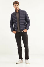 NEW Esprit Mens Lightweight down/feather reversible jacket NAVY