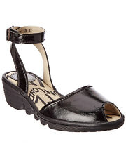 FLY London Popa Patent Wedge Sandal
