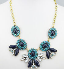 new fashion beautiful Occident Style glass crystal  charm necklace 5 color
