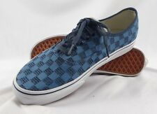 VANS AUTHENTIC Mens stitch checkers unisex SKATEBOARD SHOE Size US 10 - RRP$ 99