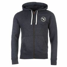 SoulCal Signature Full Zip Hoody Mens Indigo Hoodie Sweatshirt Jacket