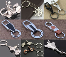 Men Leather Key Chain Metal Car Key Ring Key Holder Gift Personalized Chains MAC