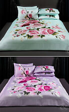 100% Cotton Sateen Duvet Cover Luxury Traditional Floral Quilt Cover Bedding Set