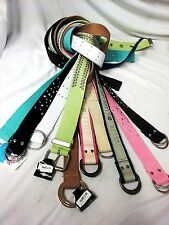 Kids Canvas Web Toddler Girls Boys Belts Different Design With Silver Buckle
