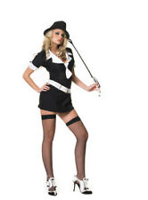 Sexy Gangster Moll Pinstriped Dress for Costume