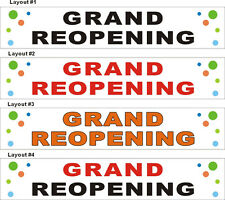 2ftX10ft Custom Printed GRAND REOPENING (Re-Opening) Banner Sign