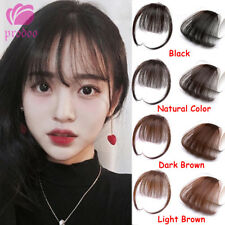 Girls Clip In/on Front Hair Bang Fringe Remy Human Hair Extensions Piece Thin