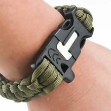 Outdoor Camping & Hiking Survival Emergency Gear Paracord Bracelet Kit with Wris