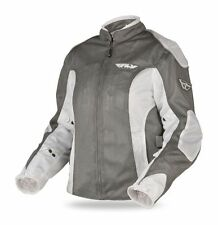 Fly Racing - CoolPro 2 Mesh Ladies Motorcycle Riding Jacket Womens Silver 3XL 2P