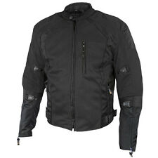 Mens Xelement 3039 TriTex Black Mesh Reflective Armored Motorcycle Jacket