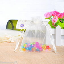 Wholesale Lots 9x12cm White Drawable Organza Wedding Gift Bags &Pouches