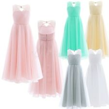 Kid Princess Prom Flower Girl Pageant Wedding Bridesmaid Party Formal Mesh Dress