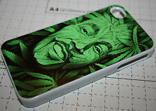 Custom Bob Marley cannabis weed green face iphone 4 4s 5 5s Back case cover