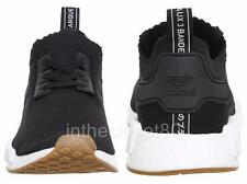 Adidas NMD R1 PrimeKnit PK Black White Gum Mens Trainers BY1887