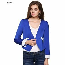 Elegant Ladies Women's Office Suits Slim Fit Blue Women Blazers And Jackets