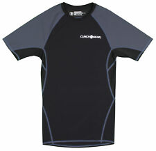 Clinch Gear React Short Sleeve Rashguard (Black/Gray)