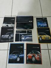 2005 05 MINI COOPER CONVERTIBLE OWNERS MANUAL FULL SET with Case