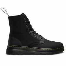 Dr.Martens Combs 8 Eyelet Waxy Black Unisex Womens Mens Boots