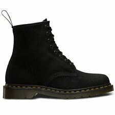 Dr.Martens 1460 8 Eyelet Soft Buck Black Unisex Mens Womens Boots Size