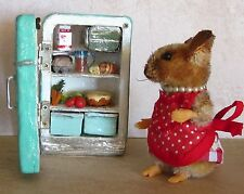 5 way jointed Lucy Mouse w/ Refrigerator Cheesecake by Artist Robin J Andreae