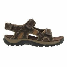 Caterpillar Giles Dark Brown Mens Leather Strapped Sandals New