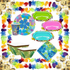 Tropical Summer Hawaian Luau BBQ Party Supplies Complete Range