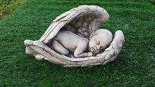 baby in angel wing memorial,concrete,grave ornament,price includes delivery