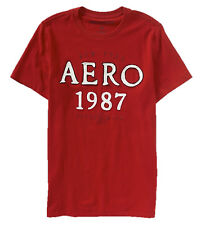 AEROPOSTALE MENS T-SHIRT EMBROIDERED LOGO AERO 1987 TEE TOP SHIRT 7059