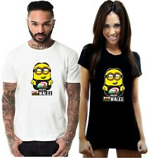 FUNNY WALES RUGBY T SHIRT MINIONS WELSH CYMRU NATIONS UNION MENS LADIES KIDS TOP