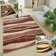 New Soft Shaggy THICK 5CM  Modern Rugs For Living Room Bedroom Mosaic Dark Brown