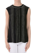 PRADA New Woman Lady Top Black sleeveless Blouse Made in Italy