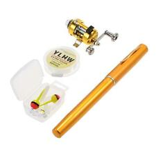 Mini Portable Pocket Fish Pen Aluminum Alloy Fishing Rod Pole Reel+Line Baits