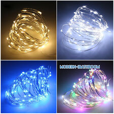 DIY 2M 4M Fairy Lights Battery Operated Led Firefly Micro String Copper Wire UK