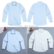 New Mens Luxury Stylish Casual Long Sleeve Dress Shirts Slim Fit Business Shirts