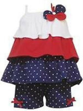 NWT baby dress - RARE EDITIONS PATRIOTIC 4TH JULY Tiered Ruffle Shirt and Capri