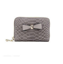 Bowknot Real Leather ID Credit Card Holder Case Coin Pocket Purse Wallet Women