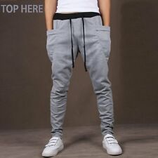 Casual Men Pants Hot Sale Unique Big Pocket Hip Hop Harem Pants Fitness Clothing