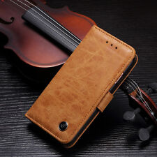 Luxury Slim Magnetic Flip Wallet Card Leather Stand Matte Case Cover For Samsung