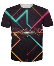 Summer Short sleeve Womens/Mens Psychedelic geometry 3D Print Casual T-Shirt  A7