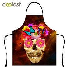 2017 Adjustable Cook Apron High Quality Spandex Restaurant Pinafore Skull Patern