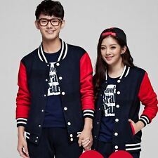 Couple Clothes Jacket Man Woman Long Sleeve Lovers Harajuku Covered Button Coat