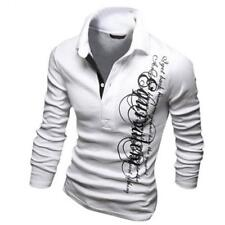 2016 Mens Polo Shirt Brands Mens Letters Printed Long Sleeve POLO Shirts Brands