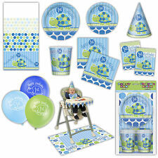 Blue TURTLE Boy's 1st Birthday Party Supplies Tableware Balloons Hats Listing