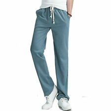 2017 Top Selling Solid Spring Summer Men Linen Pants Trousers Big Size Casual