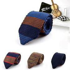 New Design Fashion Male Brand Slim Designer Knitted Ties Neck Ties Cravate